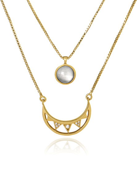 Colar Crescent Moon Ouro | Mel Bandeira Joias | Compre na Loja Online