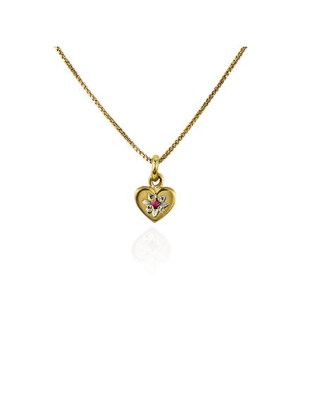 Pingente Coração em Ouro e Rubi | Loja Online | Mel Bandeira
